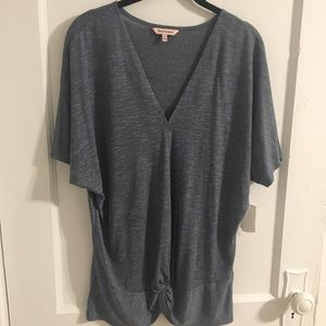 Juicy Couture short-sleeve blue v-neck top